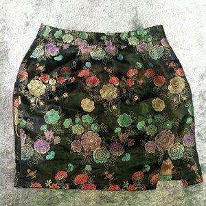 NWT Pretty Little Thing floral mini skirt sz 8